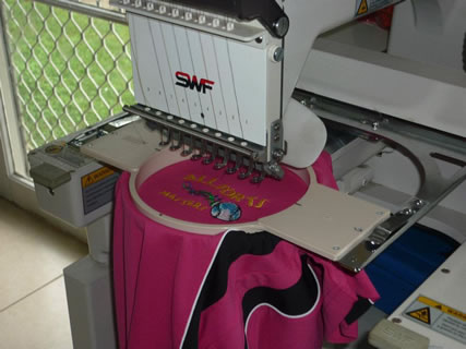 Contact Bev about embroidery